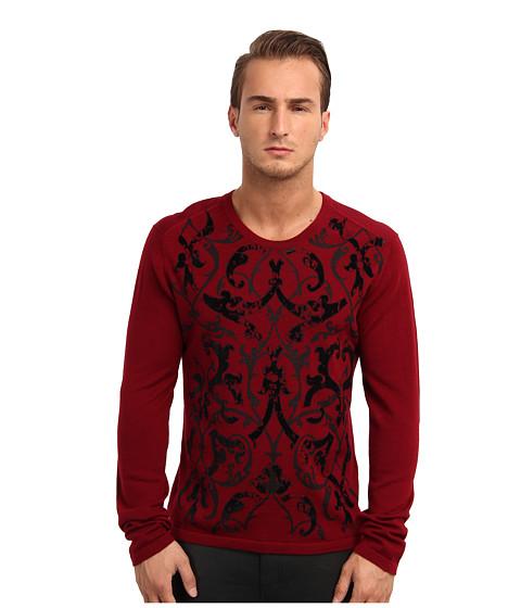 Just Cavalli - Paisley Front Sweater (Bordeaux) Men