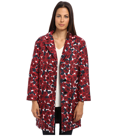 LOVE Moschino - Floral Three-Button Jacket (Red/Black) Women's Coat