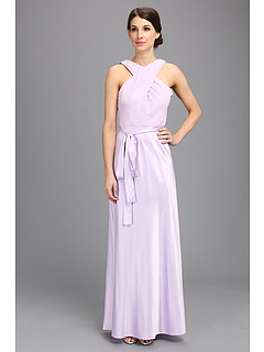SALE! $39.99 - Save $158 on Donna Morgan Criss Cross Top Long Gown Dress (Lilac Bloom) Apparel - 79.80% OFF $198.00