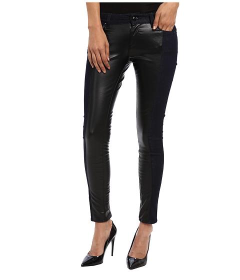 LOVE Moschino - Stretch Denim Pants With Black Shiny Inset (Denim/Black) Women