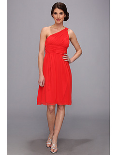 SALE! $49.99 - Save $128 on Donna Morgan One Shoulder Chiffon Dress (Poppy Flower) Apparel - 71.92% OFF $178.00