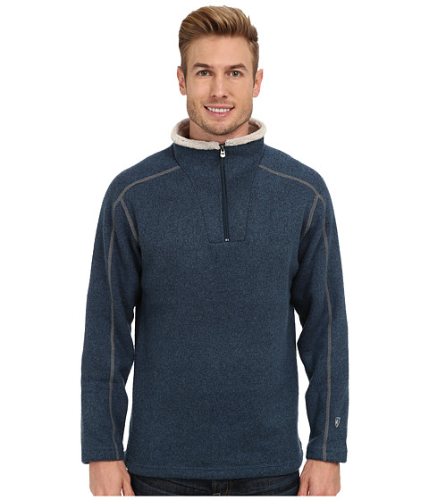 Kuhl - Europa 1/4 Zip Sweater (Indian Teal) Men's Long Sleeve Pullover