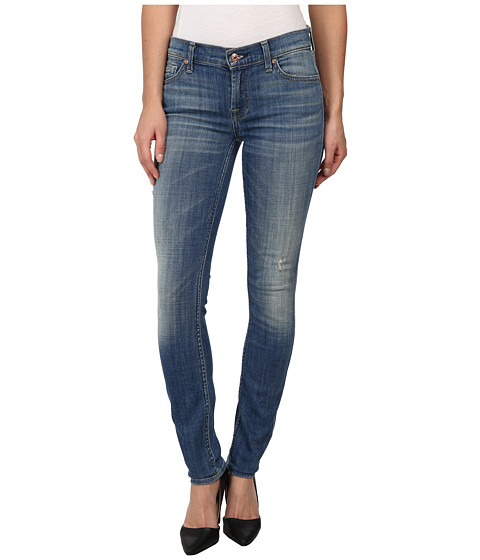 7 For All Mankind - The Skinny w/ Squiggle in Bright Light Broken Twill (Bright Light Broken Twill) Women's Jeans