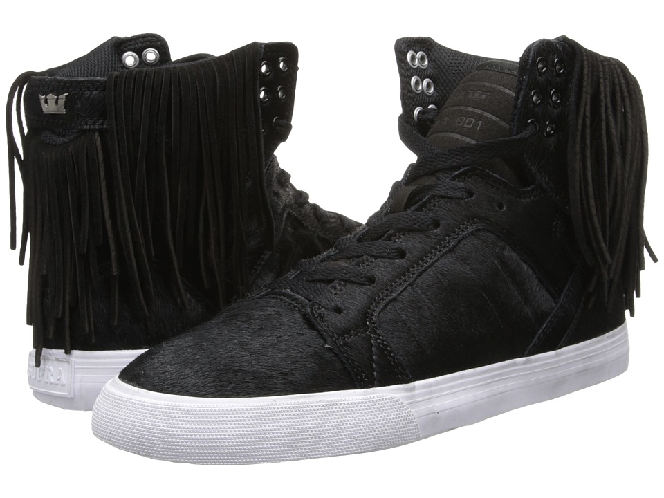Supra - Skytop Nocturne (Black/Zebra/White) Women's Skate Shoes