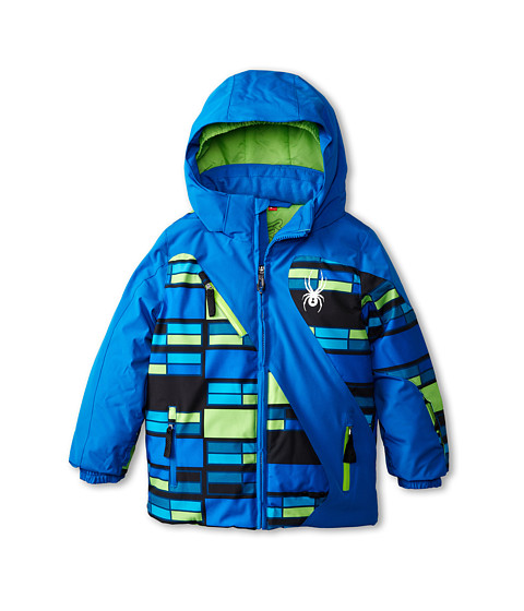 Spyder Kids - Mini Enforcer Jacket (Toddler/Little Kids/Big Kids) (Stratos/Mantis Green City Lights/Mantis Green) Boy's Coat