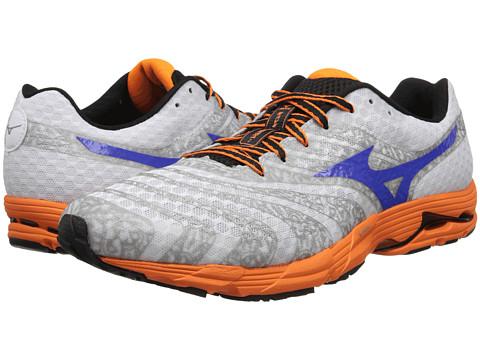 Mizuno - Wave Sayonara 2 (White/Dazzling Blue/Vibrant Orange) Men's Running Shoes