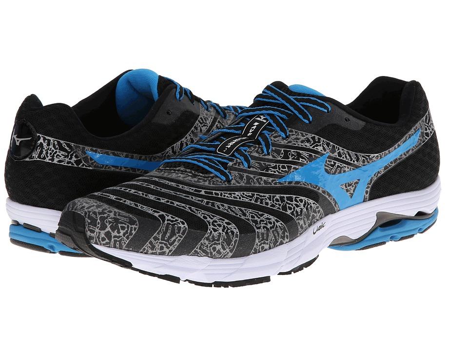 Mizuno - Wave Sayonara 2 (Black/Dude Blue/White) Men's Running Shoes