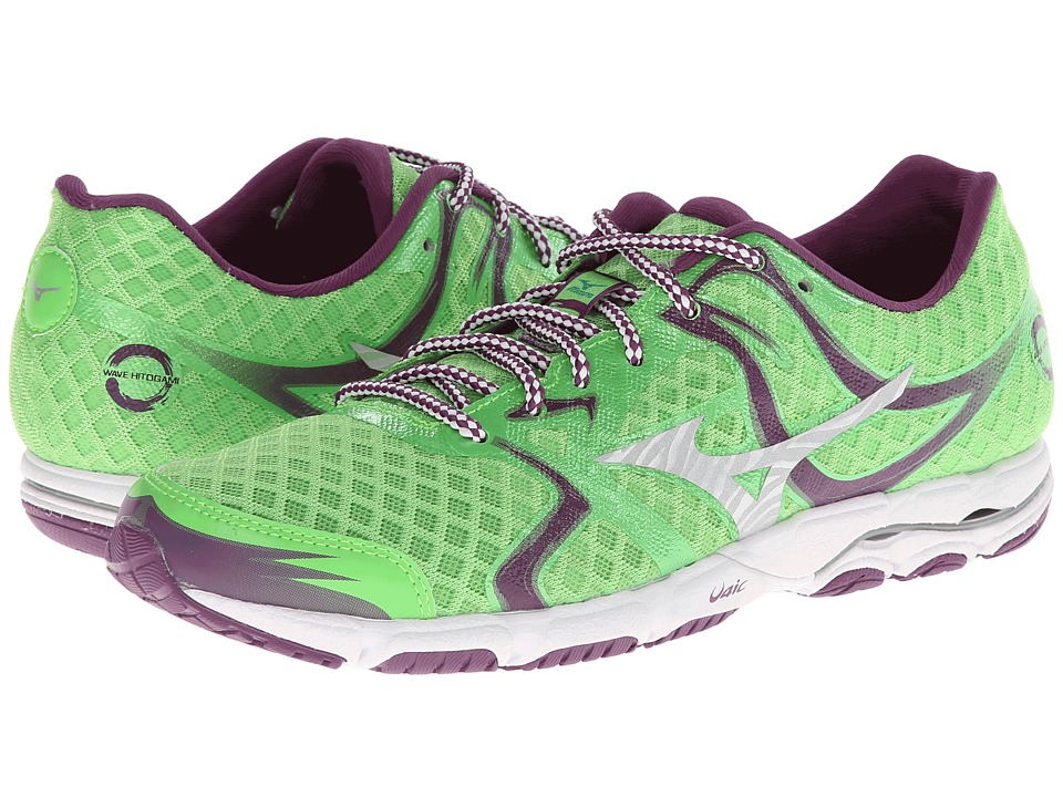 Mizuno - Wave Hitogami (Green Flash/Caribbean Sea) Women's Running Shoes