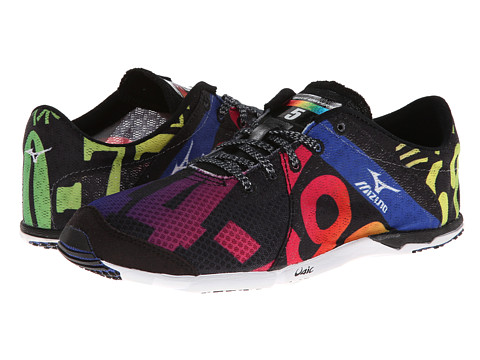 Mizuno - Wave Universe 5 (Black/White/Rainbow) Women's Running Shoes