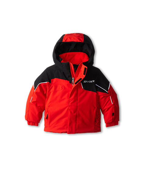Spyder Kids - Mini Guard Jacket (Toddler/Little Kids/Big Kids) (Volcano/Black/White) Boy's Coat