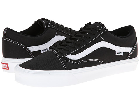 Vans - Old Skool Lite (Black/True White) Men's Skate Shoes