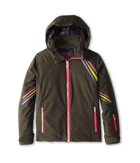 Spyder Kids - Pandora Jacket (Big Kids) (Osetra/Bryte Bubblegum/Pure) Girl's Coat