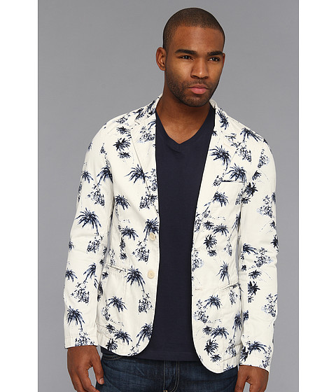 Scotch & Soda - Hawaiian Printed Blazer (Denim White) Men