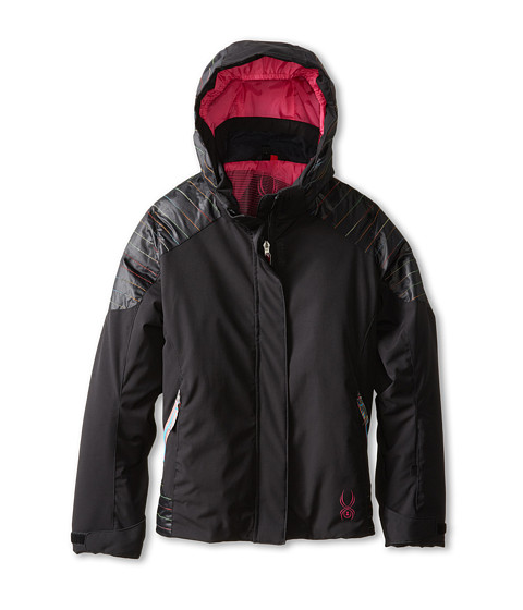 Spyder Kids - Stunner Reversible 3-In-1 Jacket (Big Kids) (Black/MLT/MLT) Girl