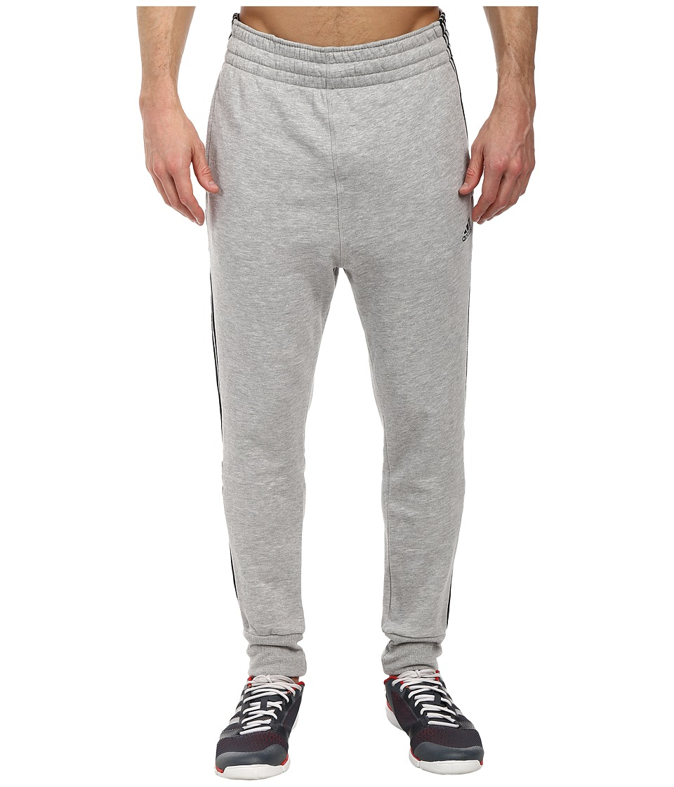 adidas - Slim 3-Stripes Sweatpant (Medium Grey Heather/Black) Men's Casual Pants