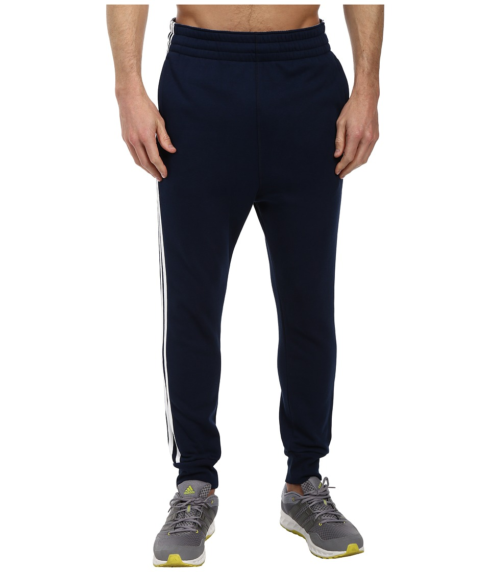 adidas - Slim 3-Stripes Sweatpant (Collegiate Navy/White) Men's Casual Pants