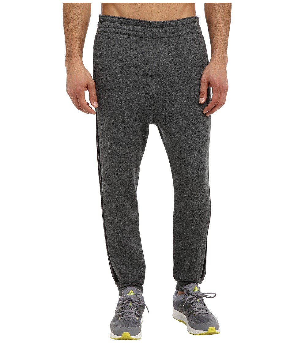 adidas - Slim 3-Stripes Sweatpant (Darl Grey Heather/Black) Men's Casual Pants