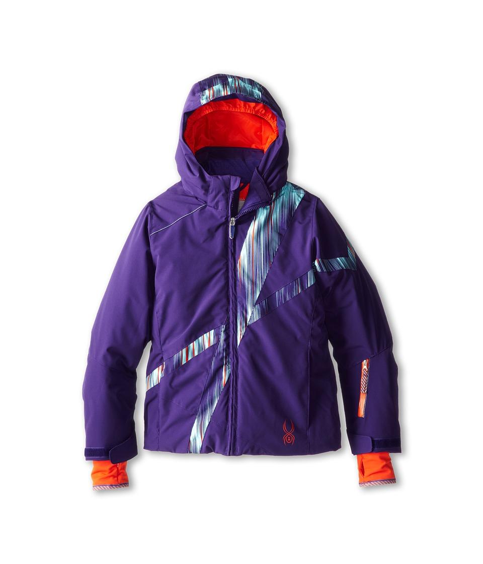 Spyder Kids - Tresh Jacket (Big Kids) (Regal/Regal Dashed/Regal Dashed) Girl's Coat