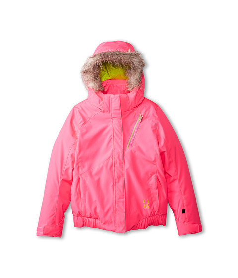 Spyder Kids - Lola Jacket (Big Kids) (Bryte Bubblegum/Sharp Lime) Girl