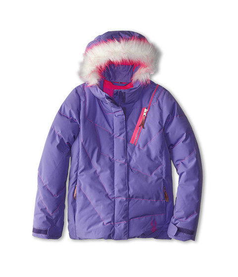 Spyder Kids - Hottie Jacket (Big Kids) (Pure/Bryte Bubblegum) Girl's Jacket