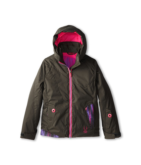 Spyder Kids - Glam Jacket (Big Kids) (Osetra/Pure Dashed/Bryte Bubblegum) Girl