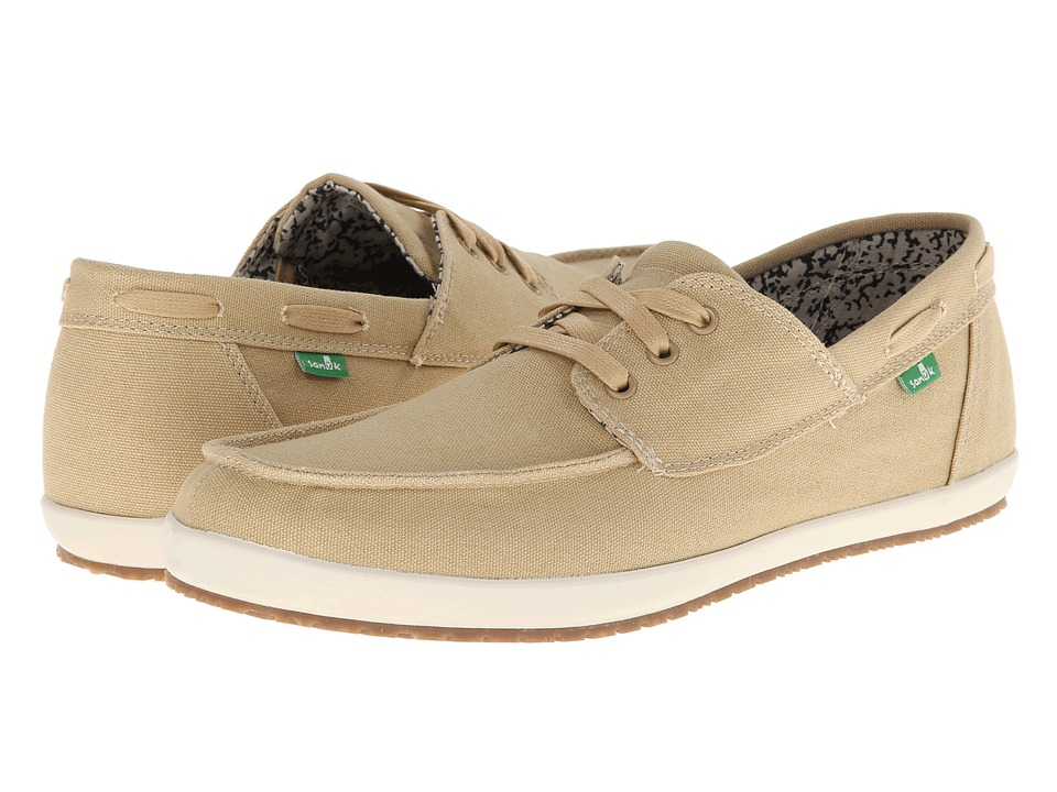 Sanuk - Casa Barco (Khaki) Men's Lace up casual Shoes