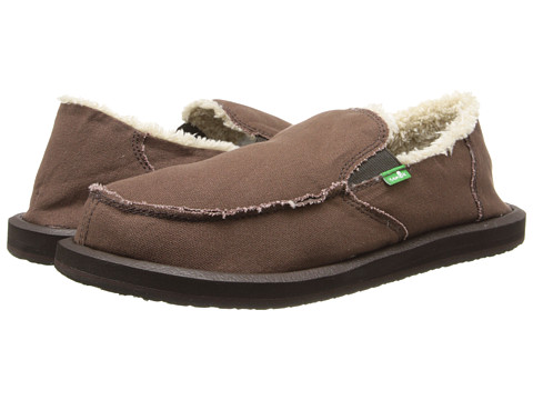 Sanuk - Vagabond Chill (Dark Brown) Men's Slip on Shoes