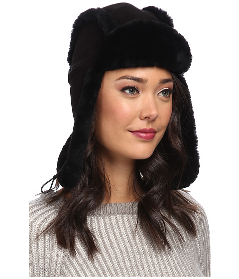UGG - Classic Bailey Aviator Hat (Black) Traditional Hats