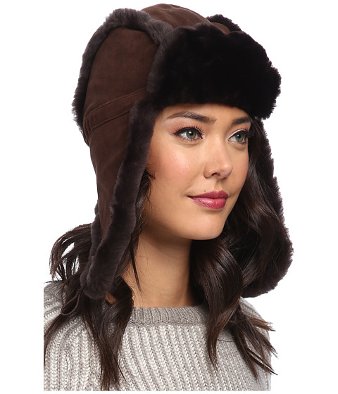 UGG - Classic Bailey Aviator Hat (Chocolate) Traditional Hats