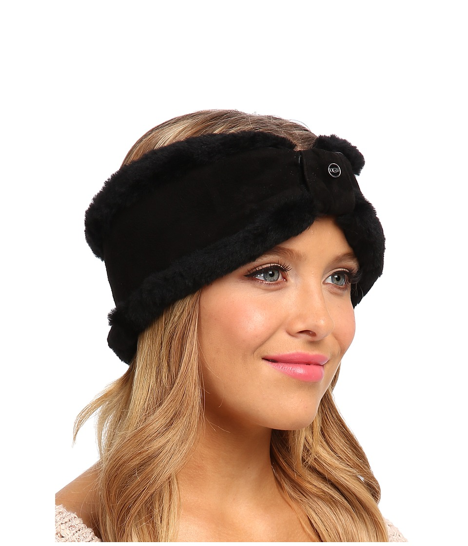 UGG - Carter Headband (Black) Traditional Hats