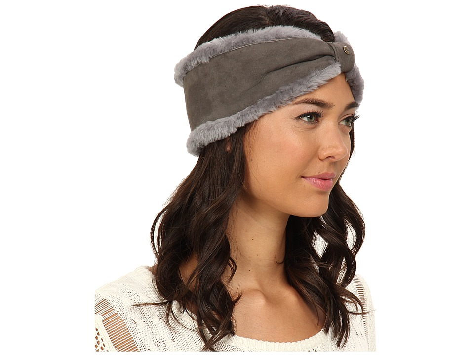 UGG - Carter Headband (Grey) Traditional Hats