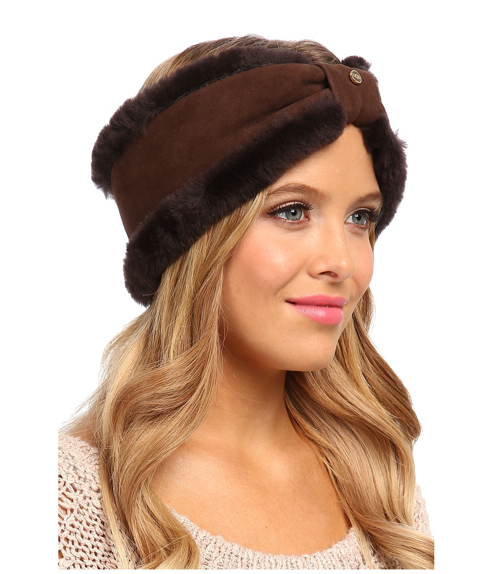 UGG - Carter Headband (Chocolate) Traditional Hats