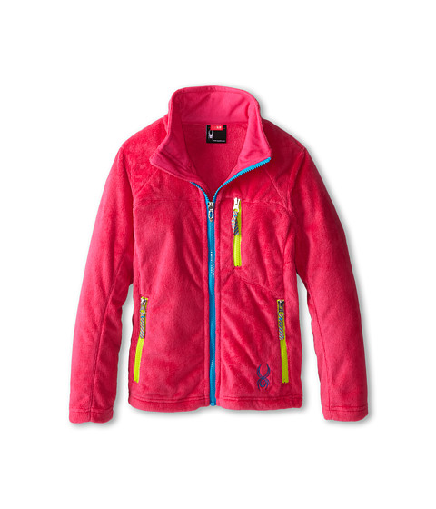 Spyder Kids - Caliper Fleece Jacket (Big Kids) (Girlfriend/Riviera/Sharp Lime) Girl