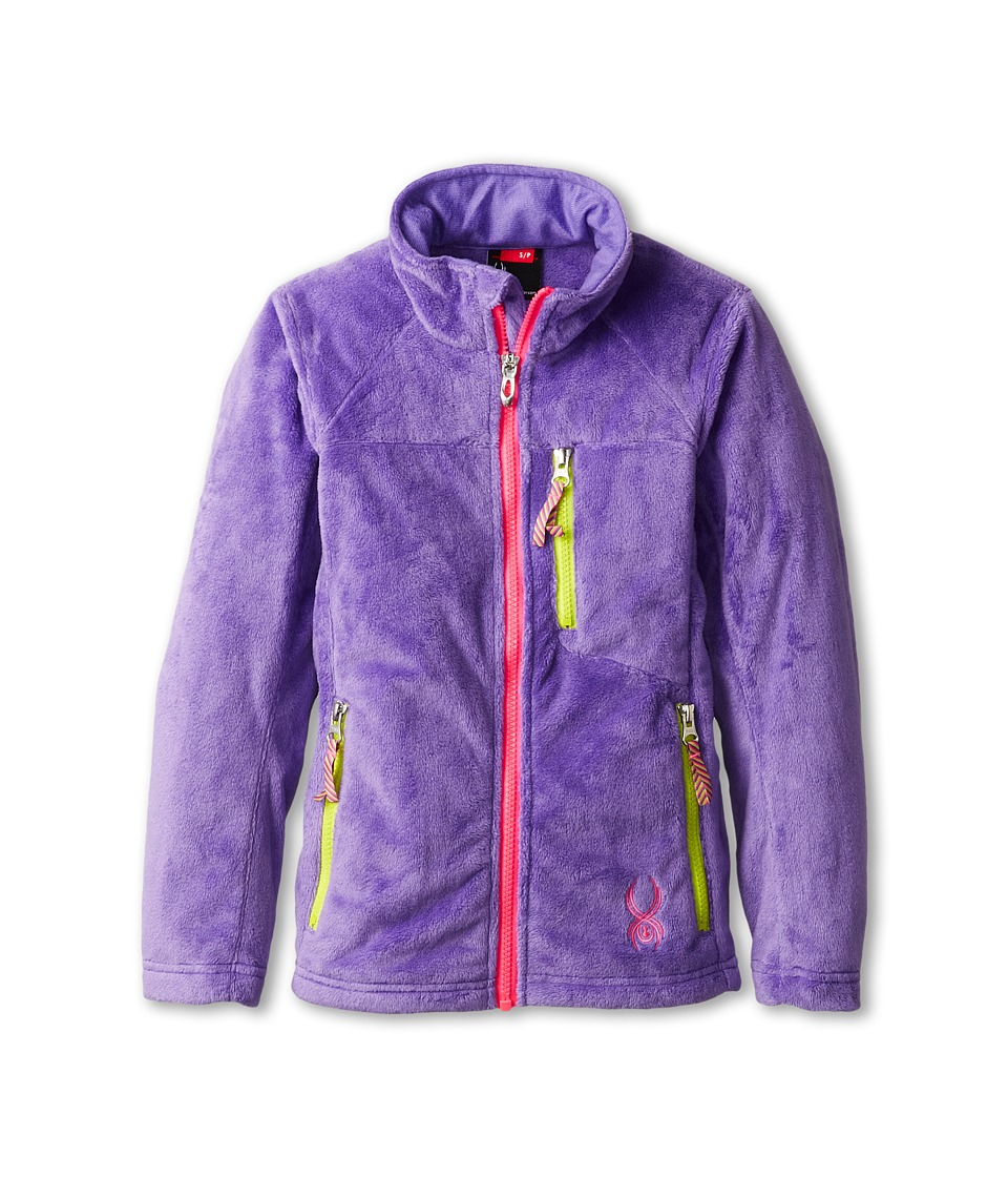 Spyder Kids - Caliper Fleece Jacket (Big Kids) (Pure/Bryte Bubblegum/Sharp Lime) Girl