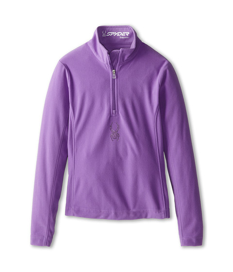 Spyder Kids - Chloe Velour Fleece T-Neck (Big Kids) (Pure) Girl's Long Sleeve Pullover