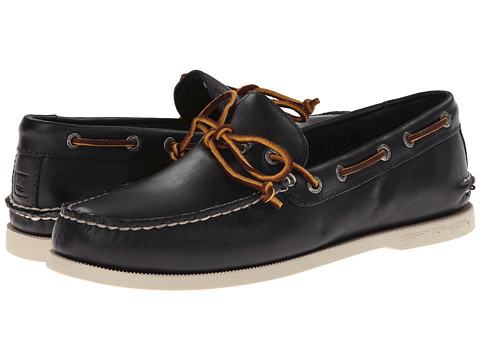 Sperry Top-Sider - A/O 1-Eye Leather (Navy Leather) Men