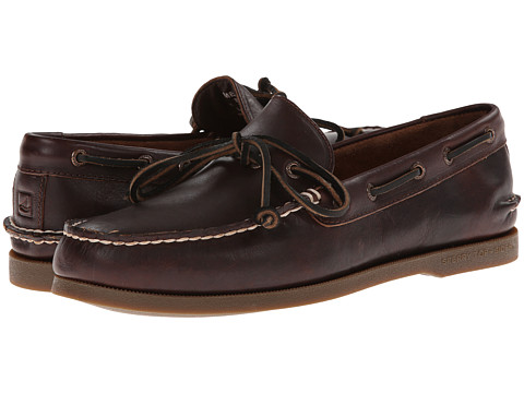 Sperry Top-Sider - A/O 1-Eye Leather (Dark Brown Leather) Men
