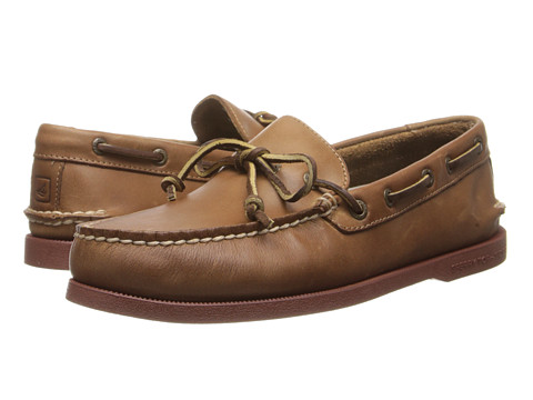 Sperry Top-Sider - A/O 1-Eye Leather (Dark Tan Leather) Men