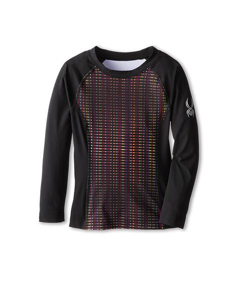 Spyder Kids - Chatter L/S Top (Little Kids/Big Kids) (Black Prism/Black) Girl's Long Sleeve Pullover
