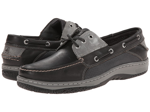 Sperry Top-Sider - Billfish 3-Eye Boat Shoe (Dark Grey) Men's Lace up casual Shoes