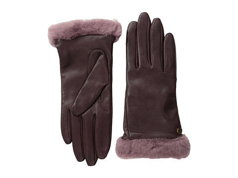 UGG - Classic Leather Shorty Glove (Port) Dress Gloves