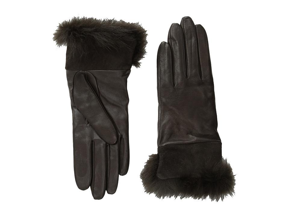 UGG - Quinn Glove with Toscana Trim (Brown M) Dress Gloves