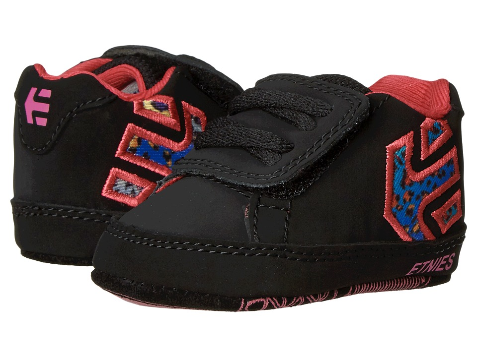 etnies Kids - Fader Crib (Infant) (Black/Pink) Kids Shoes