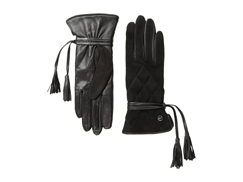 UGG - Ophira Quilted Glove with Tassel (Black M) Dress Gloves