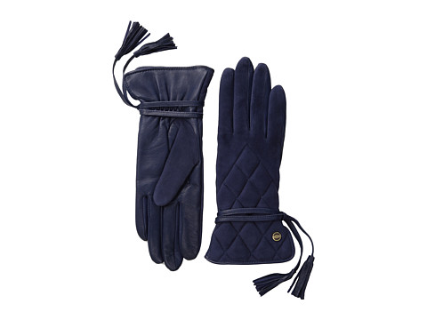 UGG - Ophira Quilted Glove with Tassel (Peacoat M) Dress Gloves
