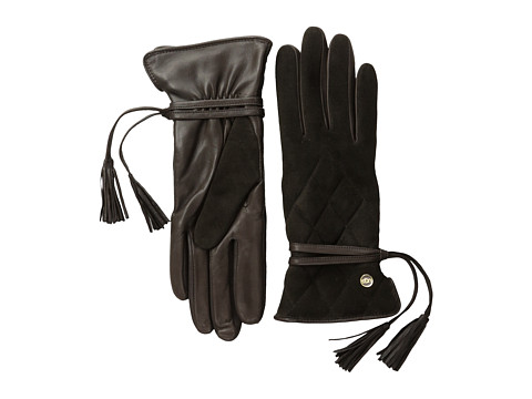 UGG - Ophira Quilted Glove with Tassel (Brown M) Dress Gloves