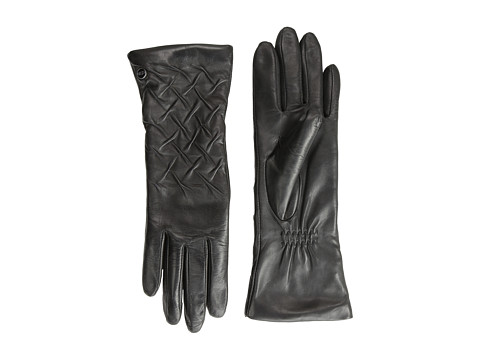 UGG - Gabrielle Rusched Glove (Black) Dress Gloves