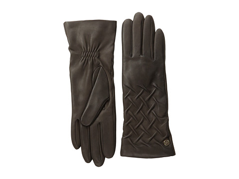 UGG - Gabrielle Rusched Glove (Brown) Dress Gloves