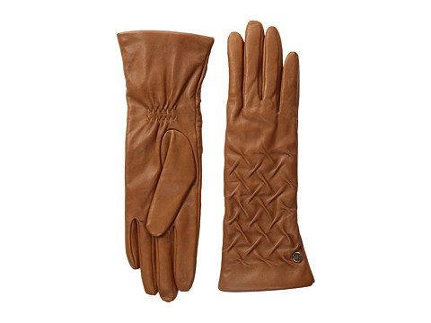 UGG - Gabrielle Rusched Glove (Chestnut) Dress Gloves