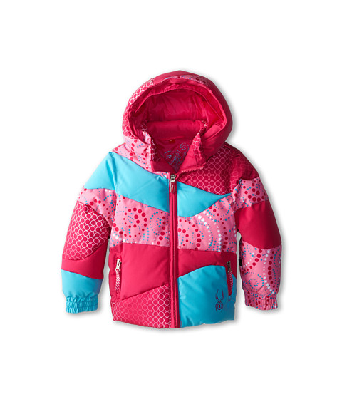 Spyder Kids - Bitsy Duffy Puff Jacket (Toddler/Little Kids/Big Kids) (Girlfriend/Sorbet Pinwheel/Splash) Girl's Coat